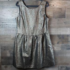 Ivanka Trump gold black jacquard  dress size 16